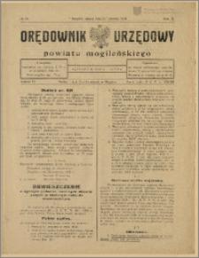 Orędownik Urzędowy Powiatu Mogileńskiego, 1929 Nr 34