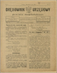 Orędownik Urzędowy Powiatu Mogileńskiego, 1929 Nr 37