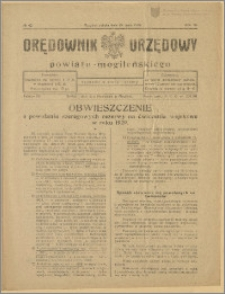Orędownik Urzędowy Powiatu Mogileńskiego, 1929 Nr 42