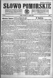 Słowo Pomorskie 1921.01.27 R.1 nr 20