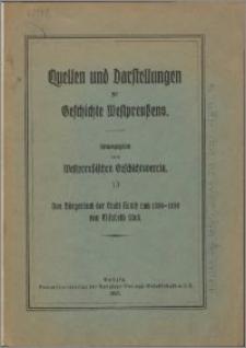 Das Bürgerbuch der Stadt Konitz von 1550-1850
