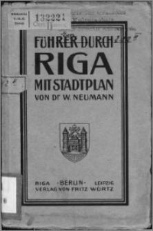 Führer durch Riga : mit einem Stadtplan
