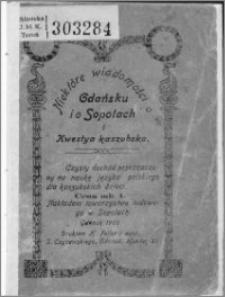 Niektóre wiadomości o Gdańsku i o Sopotach i kwestia kaszubska