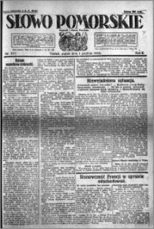 Słowo Pomorskie 1922.12.01 R.2 nr 277