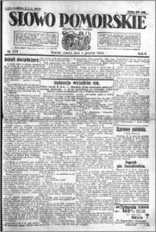 Słowo Pomorskie 1922.12.02 R.2 nr 278