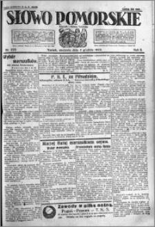 Słowo Pomorskie 1922.12.03 R.2 nr 279