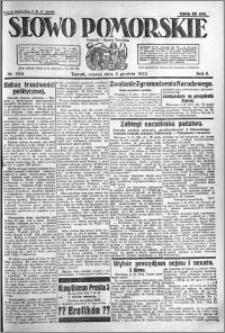 Słowo Pomorskie 1922.12.05 R.2 nr 280