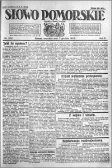 Słowo Pomorskie 1922.12.07 R.2 nr 282