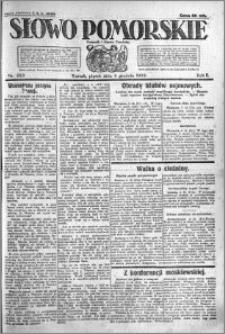 Słowo Pomorskie 1922.12.08 R.2 nr 283
