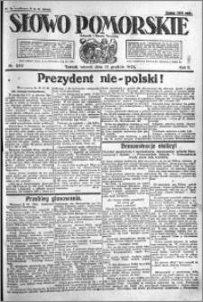 Słowo Pomorskie 1922.12.12 R.2 nr 285