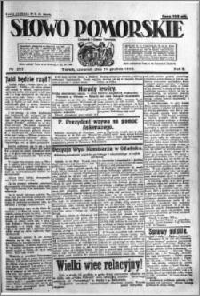 Słowo Pomorskie 1922.12.14 R.2 nr 287