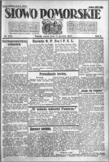 Słowo Pomorskie 1922.12.15 R.2 nr 288