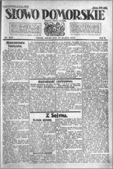 Słowo Pomorskie 1922.12.16 R.2 nr 289