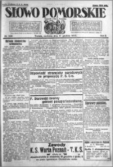 Słowo Pomorskie 1922.12.17 R.2 nr 290
