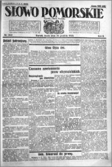 Słowo Pomorskie 1922.12.20 R.2 nr 292