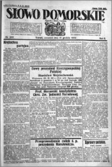 Słowo Pomorskie 1922.12.21 R.2 nr 293
