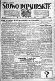 Słowo Pomorskie 1922.12.22 R.2 nr 294