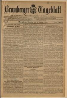 Bromberger Tageblatt. J. 34, 1910, nr 2