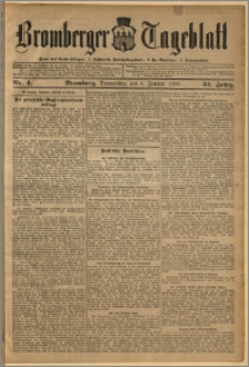 Bromberger Tageblatt. J. 34, 1910, nr 4