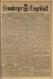 Bromberger Tageblatt. J. 34, 1910, nr 14
