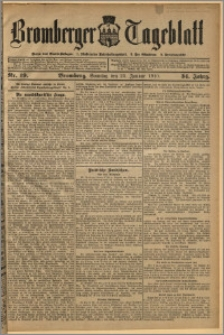 Bromberger Tageblatt. J. 34, 1910, nr 19