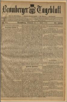 Bromberger Tageblatt. J. 34, 1910, nr 85