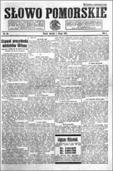 Słowo Pomorskie 1921.02.01 R.1 nr 24