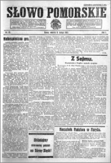 Słowo Pomorskie 1921.02.08 R.1 nr 29