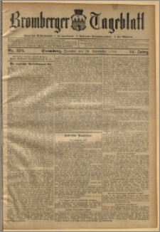 Bromberger Tageblatt. J. 34, 1910, nr 272