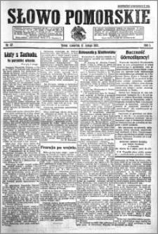 Słowo Pomorskie 1921.02.17 R.1 nr 37