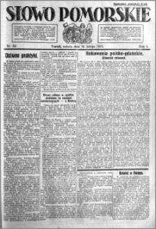 Słowo Pomorskie 1921.02.19 R.1 nr 39