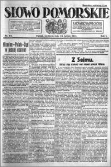 Słowo Pomorskie 1921.02.20 R.1 nr 40