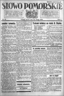 Słowo Pomorskie 1921.02.22 R.1 nr 41