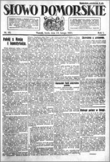Słowo Pomorskie 1921.02.23 R.1 nr 42