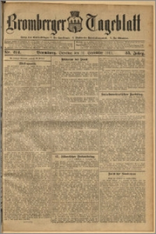 Bromberger Tageblatt. J. 35, 1911, nr 214