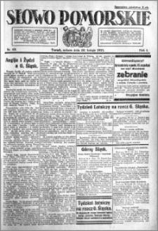 Słowo Pomorskie 1921.02.26 R.1 nr 45
