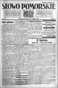 Słowo Pomorskie 1921.02.27 R.1 nr 46