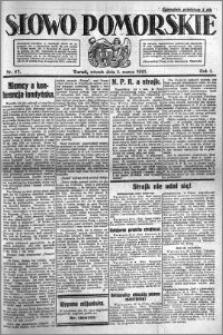 Słowo Pomorskie 1921.03.01 R.1 nr 47