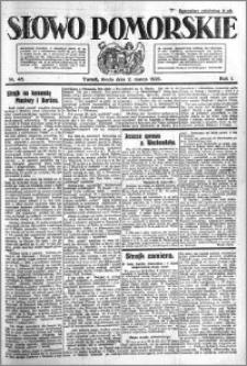 Słowo Pomorskie 1921.03.02 R.1 nr 48
