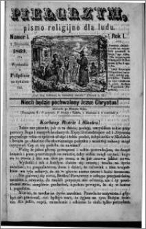 Pielgrzym, pismo religijne dla ludu 1869 rok I nr 1