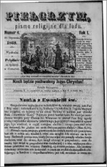 Pielgrzym, pismo religijne dla ludu 1869 rok I nr 4