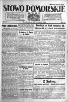 Słowo Pomorskie 1921.03.12 R.1 nr 57