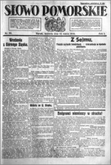 Słowo Pomorskie 1921.03.13 R.1 nr 58