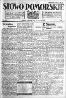Słowo Pomorskie 1921.03.17 R.1 nr 61