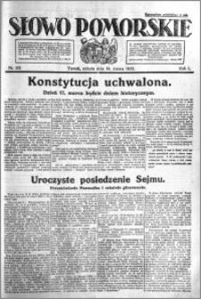 Słowo Pomorskie 1921.03.19 R.1 nr 63