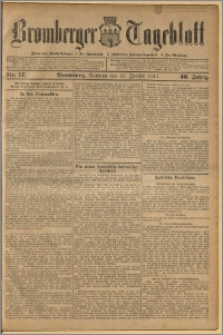 Bromberger Tageblatt. J. 36, 1912, nr 17