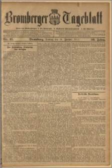 Bromberger Tageblatt. J. 36, 1912, nr 21