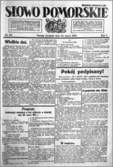 Słowo Pomorskie 1921.03.20 R.1 nr 64