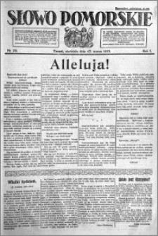 Słowo Pomorskie 1921.03.27 R.1 nr 70