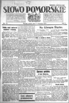 Słowo Pomorskie 1921.04.01 R.1 nr 73